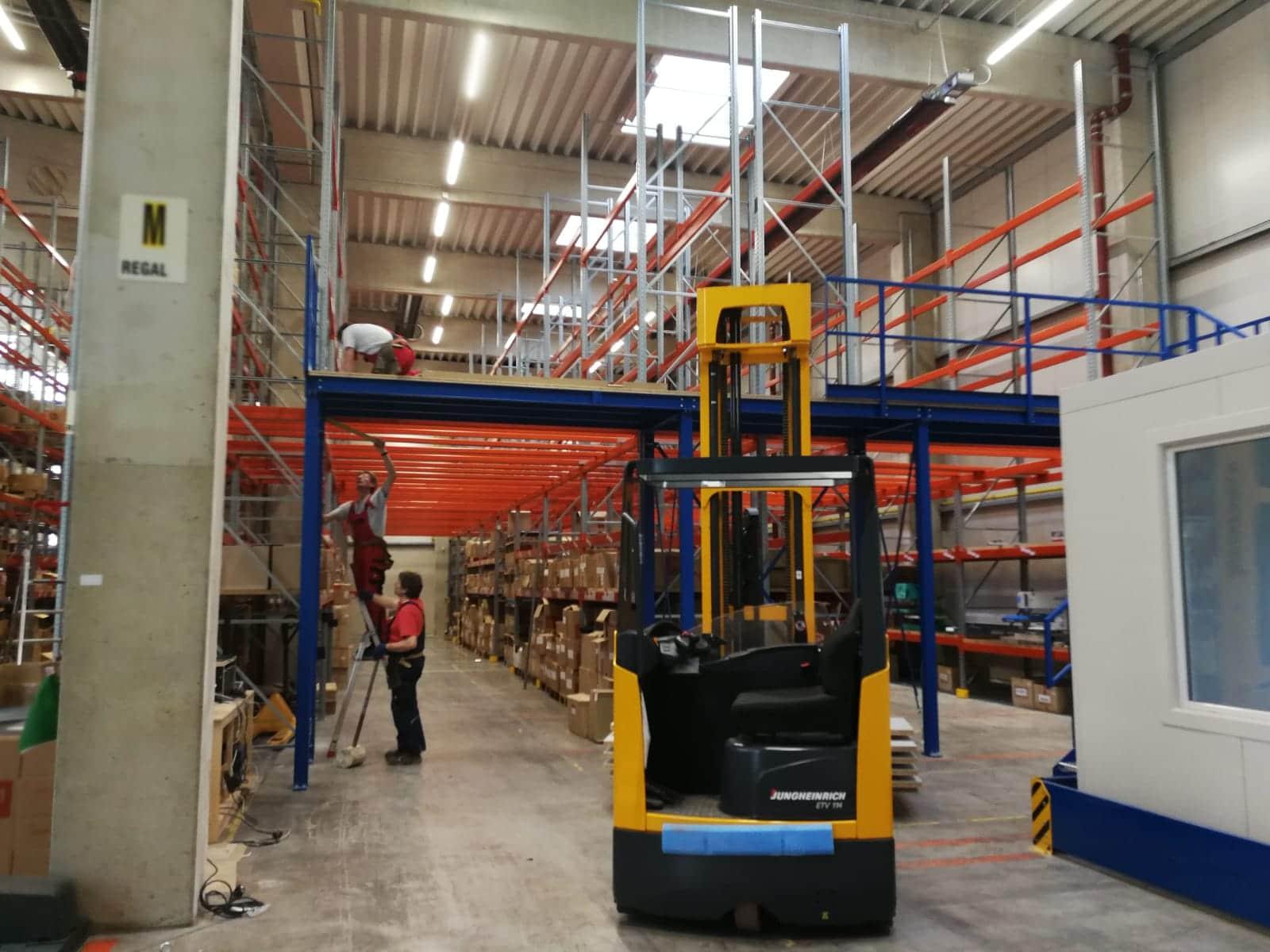 Das Logistikcenter wird erweitert - Litz Logistikcenter 2.Kommissionierebene