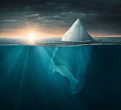 Plastik als Eisberg